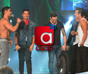 PHOTOS: ASAP's The Hunks Jericho, Carlos, Diether & Piolo & Bernard heat up the ASAP stage