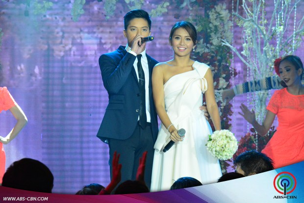 LOOK: Kathryn, Sarah and Yeng look so fab in wedding gowns