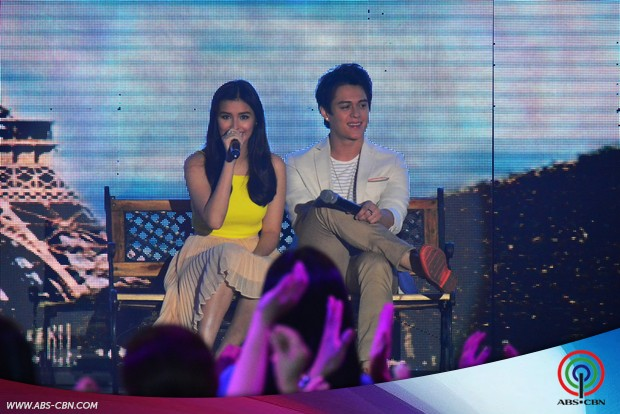 PHOTOS: Today's hottest love teams LizQuen and JaDine in one supah kilig number on ASAP