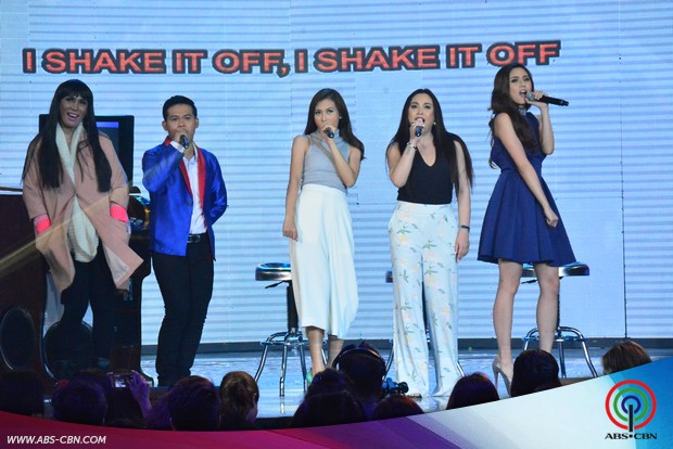 LOOK: The one and only Optimum Star Claudine Barretto sumabak  sa ASAP Karaokey Challenge with Alex and Kim