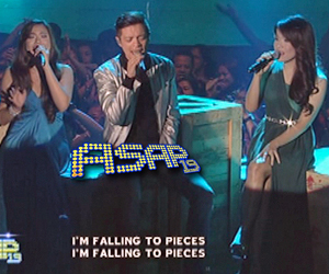 Bamboo, Morisette and Klarisse on ASAP stage